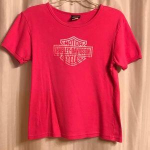 Harley Davidson Women's Pink Top, Size M